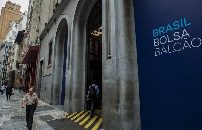 Prédio da B3 (antiga Bovespa), no Centro de São Paulo. Foto: AFP