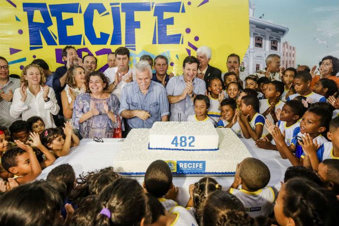 Estudantes da rede municipal de ensino participaram do evento. Foto: Andréa Rêgo Barros/Divulgação.