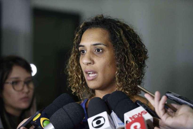 A irmã da vereadora Marielle Franco, Anielle Franco. Foto: Fernando Frazão/Agência Brasil