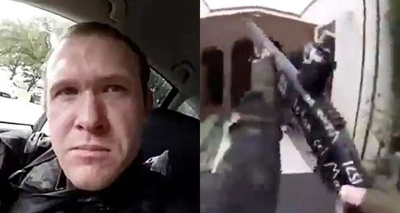 Acusado em carro antes de ele entrar na mesquita Masjid al Noor. Foto: AFP