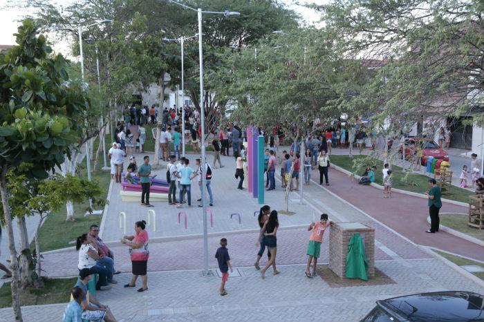 A nova praça do Salgado tem 894,42 metros quadrados. Foto: Jorge Farias/Divulgação.