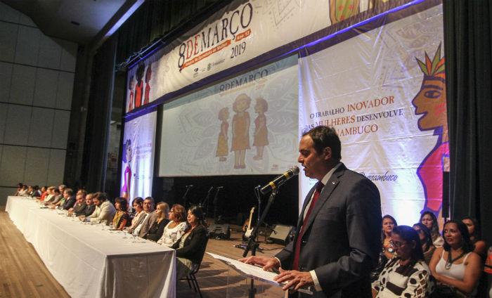 O anúncio foi feito durante o evento que marcou o início do ano da Secretaria da Mulher. Foto: Bruna Costa / Esp. DP