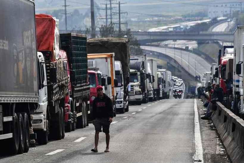 Greve da categoria em 2018: neste ano, mobilização parece ser menor. Foto: Nelson Almeida/AFP - 26/5/18