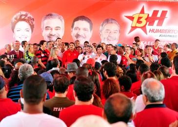 Candidato petista credita ao PT a responsabilidade pelas obras estruturadoras vindas para Pernambuco na gestão do PSB (Sérgio Figueirêdo/Grão Fotos)
