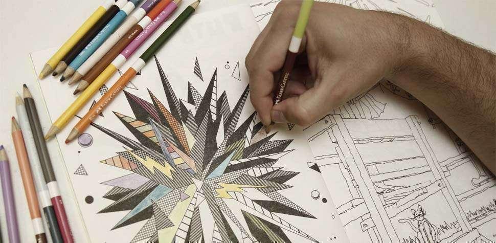 Modinha dos livros de colorir se desdobra em quadros decorativos e grupos virtuais (Facebook/Reprodu��o)