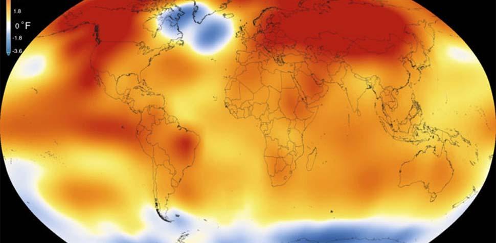 Aquecimento provoca migração de animais (Scientific Visualization Studio/Goddard Space Flight Center)