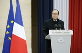 Hollande promete destruir o EI (POOL/AFP PHILIPPE WOJAZER )